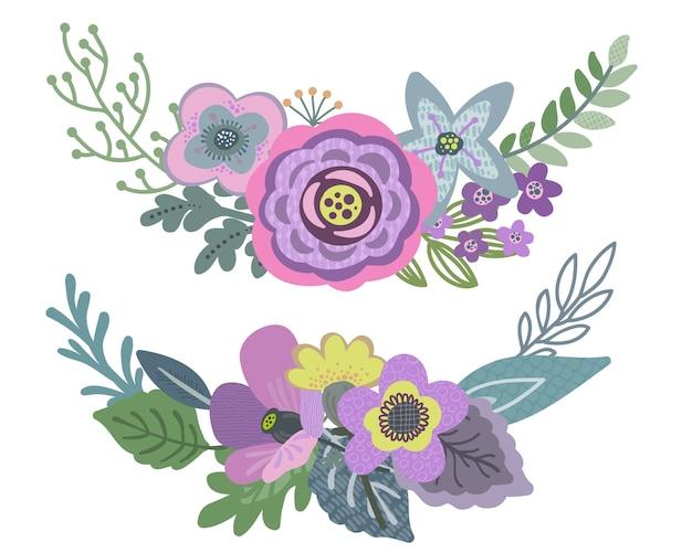 Sertie d'un beau bouquet floral.
