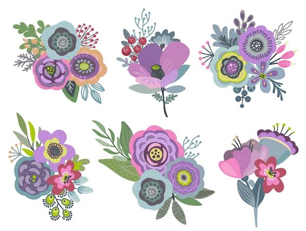 Sertie de beaux bouquets de fleurs.