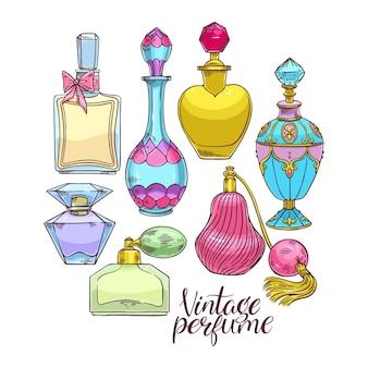 Sertie d & # 39; une variété de bouteilles de parfum pour femmes