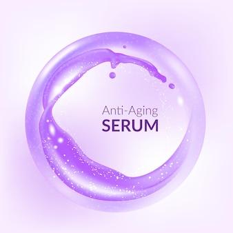 Sérum anti-âge soins de la peau cosmétique