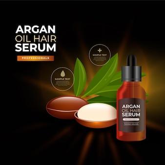 Sérum capillaire réaliste à l'huile d'argan