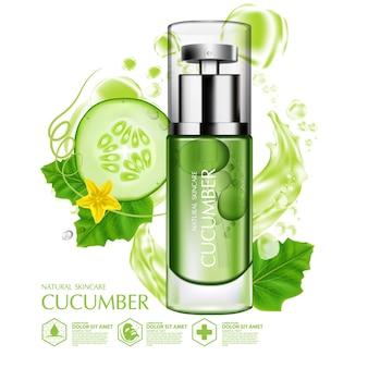 Sérum naturel de concombre hydratation cosmétique de soins de la peau