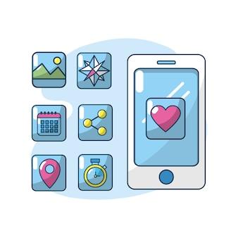 Serveur de connexion de la technologie des applications smartphone