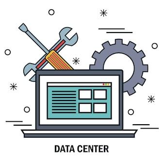 Serveur de support de travail portable serveur de centre de données isolé