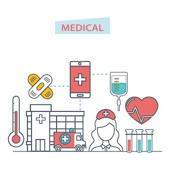 Service d'application mobile de soins de santé