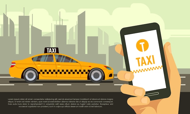 Service d'application mobile de taxi