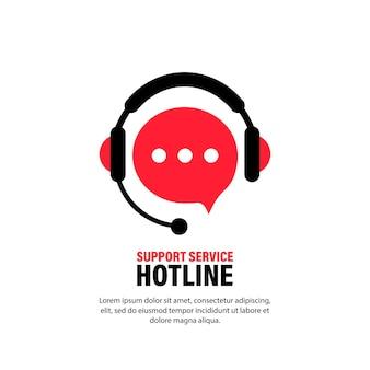 Service d'assistance téléphonique avec des écouteurs. insigne de sonnerie assistant opérateur, centre d'appels. accompagnement, consultation, consultant, secrétariat. marketing en direct, hotline toute la journée. vecteur, icône. eps 10.
