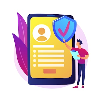 Service d'assurance à la demande. assureur digital, application mobile, business model innovant. clientèle féminine commandant une police d'assurance en ligne