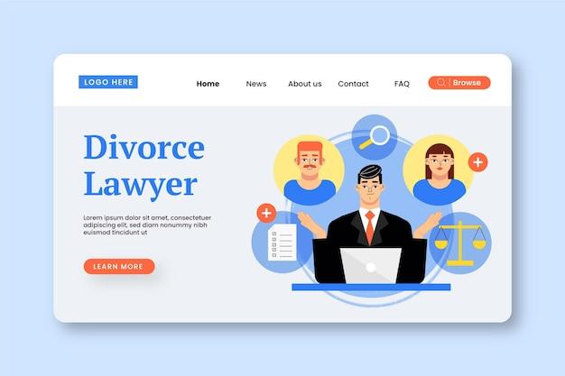 Service D'avocat En Divorce - Page De Destination Vecteur gratuit