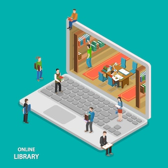 Service de bibliothèque en ligne.