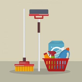 Service de blanchisserie set produits
