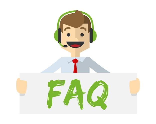 Service client avec forum faq