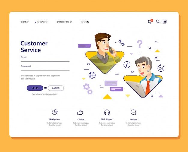 Service client illustration de 24 heures avec un design plat de style moderne