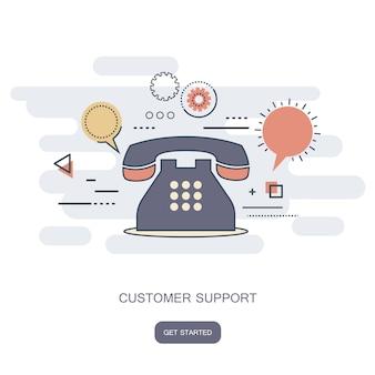 Service clientèle d'affaires