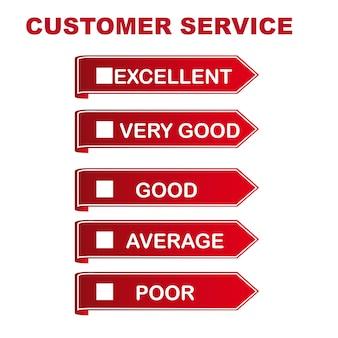 Service à la clientèle sur l'illustration vectorielle fond blanc
