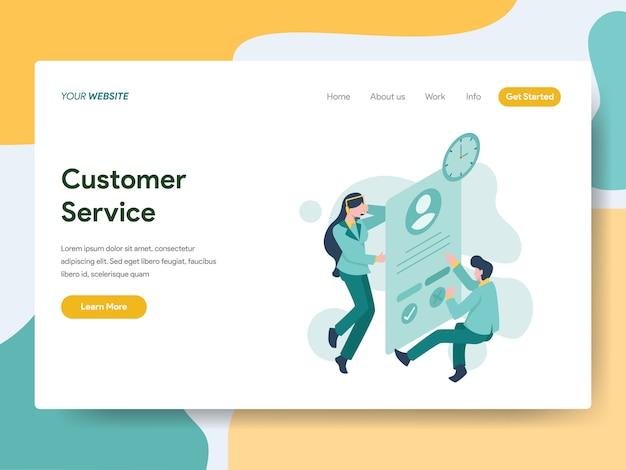 Service à la clientèle pour la page web