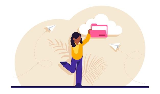 Service cloud pour le stockage internet de fichiers de données numériques