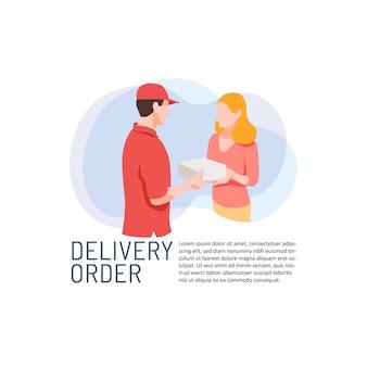 Service de commande de livraison de colis