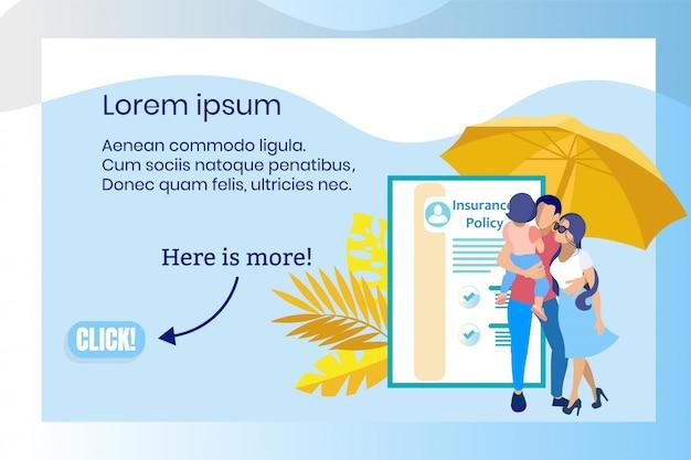 Service de compagnie d'assurance pour personnes en vacances.