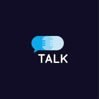 Service de contact et de dialogue, assistance à la conception d'icônes de discussion et conseils, soutien au concept de logo vectoriel