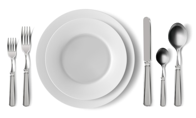 Service de couverts de table réaliste