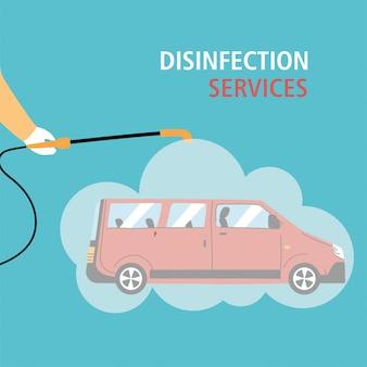 Service de désinfection par coronavirus ou covid 19