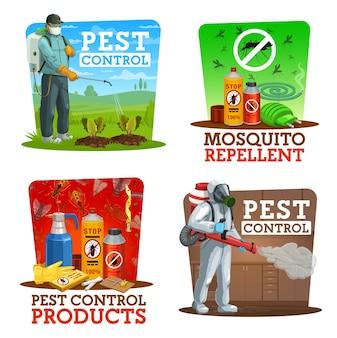 Service d'extermination d'insectes à la maison et dans les jardins