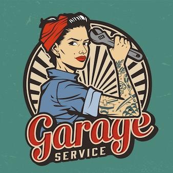 Service de garage vintage mauvais