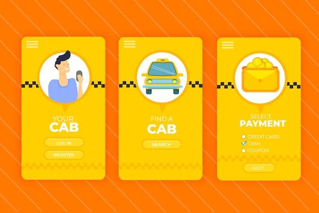 Service d'interface de l'application mobile taxi
