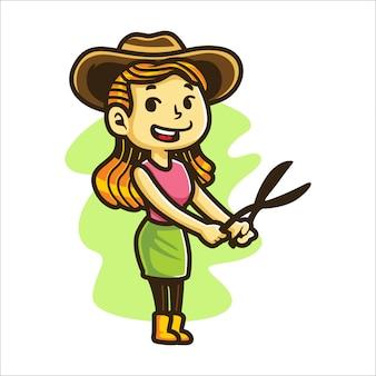 Service de jardinage de dessin animé