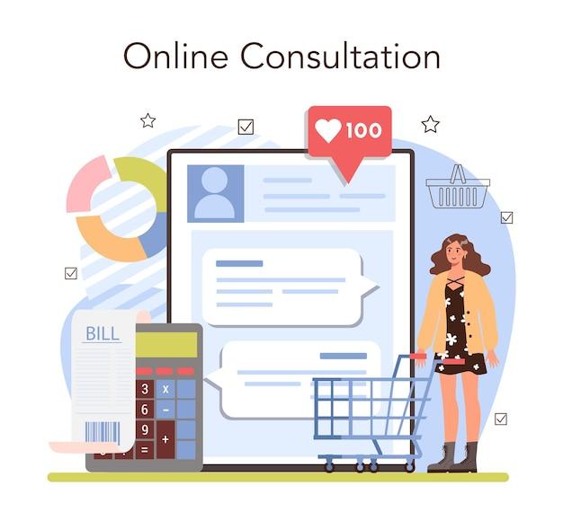 Service en ligne d'activités commerciales ou inventaire d'entrepreneur de plate-forme