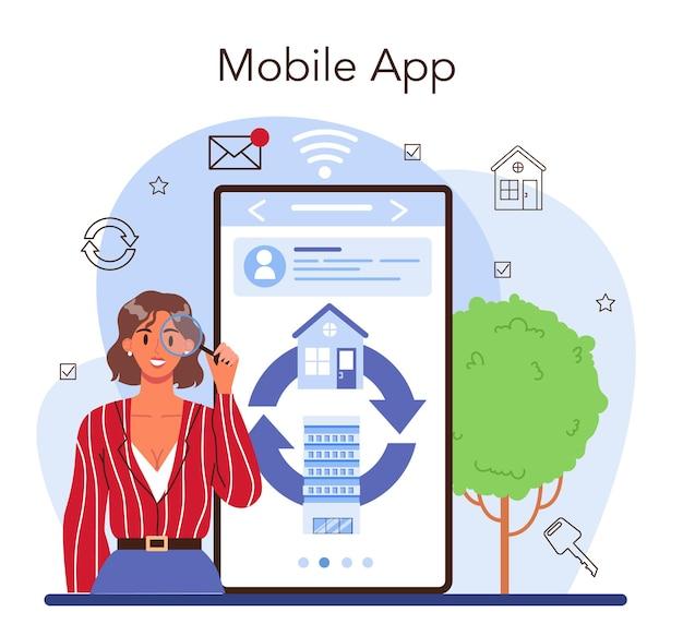 Service en ligne d'agence immobilière ou plateforme de service d'agent immobilier qualifié