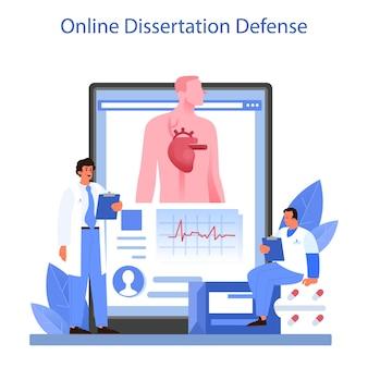 Service en ligne de cardiologue ou idée de plate-forme de soins cardiaques
