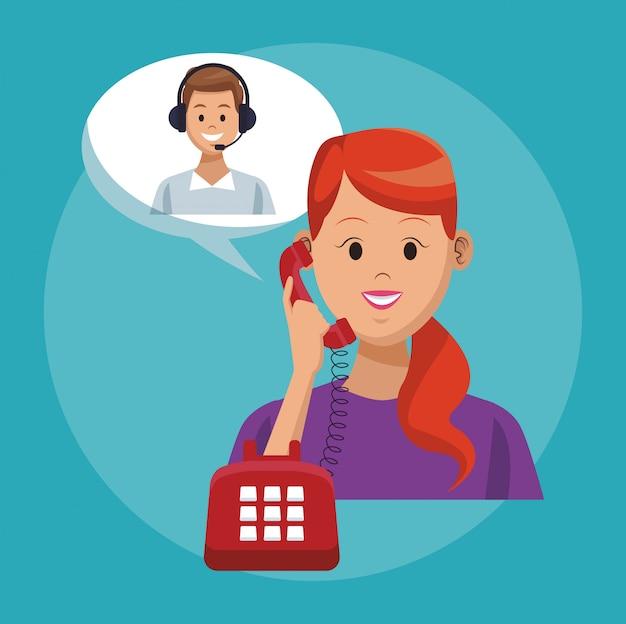 Service de ligne de centre d'appels