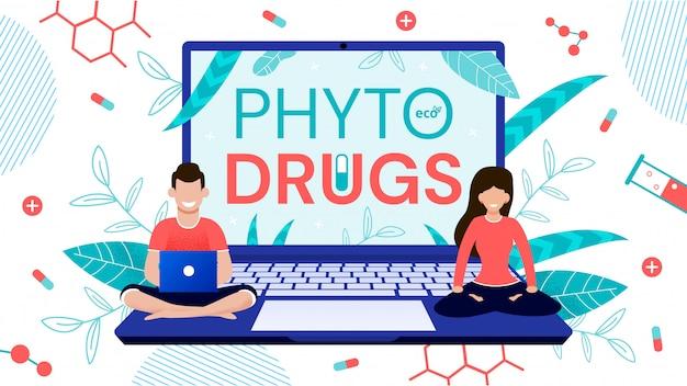 Service en ligne de commande de médicaments phyto à base de plantes vertes