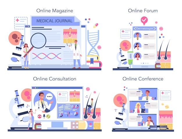 Service en ligne ou ensemble de plates-formes de dermatologue