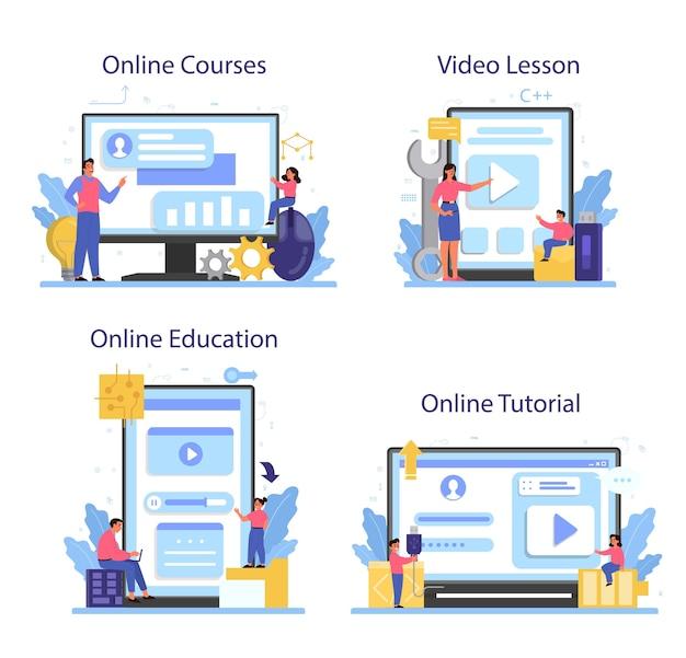 Service en ligne ou ensemble de plates-formes d'éducation informatique