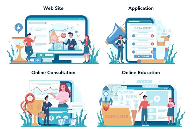 Service en ligne ou ensemble de plates-formes de marketing