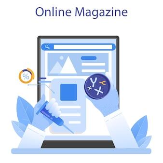 Service en ligne de généticien ou plateforme médecine et technologie scientifique