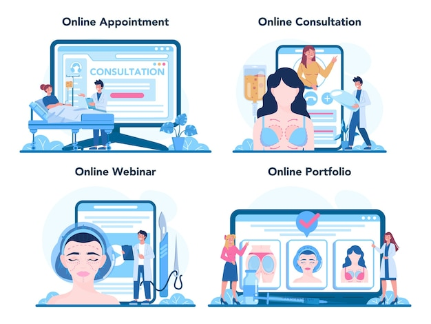 Service en ligne ou plate-forme de chirurgien plasticien