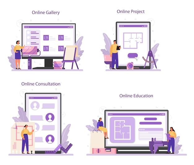 Service en ligne ou plate-forme de designer d'intérieur professionnel