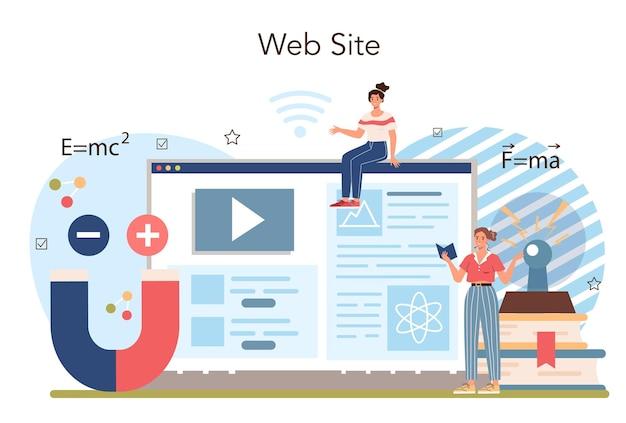 Service en ligne ou plate-forme en ligne pour les cours de physique que les étudiants explorent