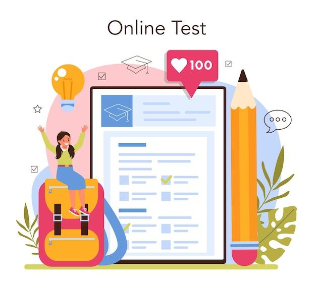 Service en ligne de professeur ou professeur de plate-forme donnant une leçon