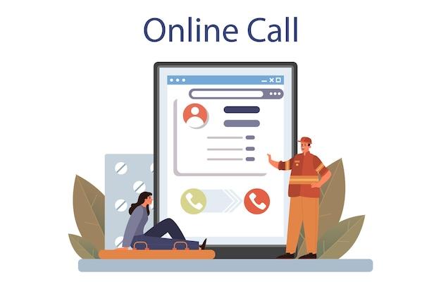 Service en ligne de sauveteur ou plateforme secours urgent ambulance sauveteur
