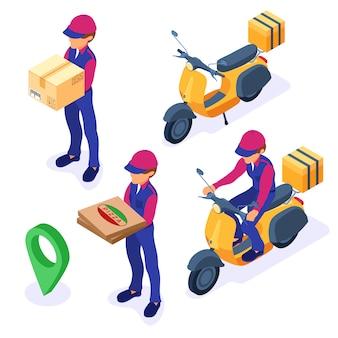 Service de livraison de colis de commande de nourriture en ligne