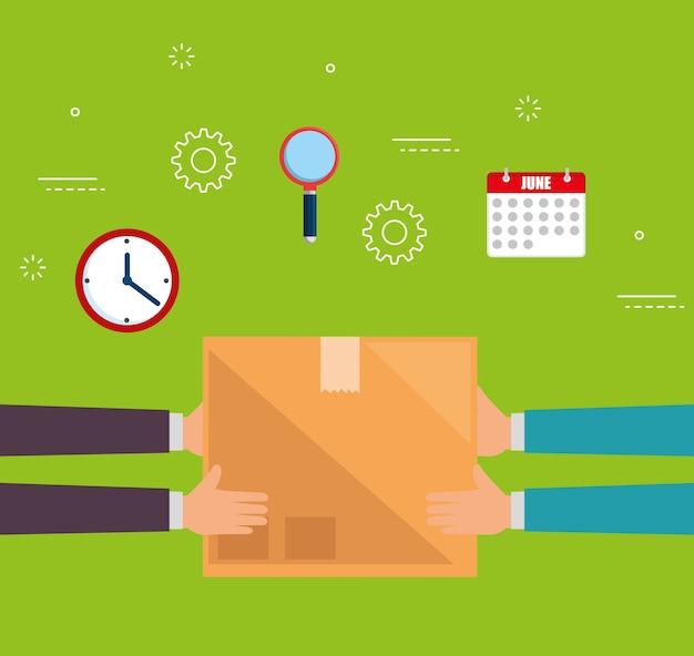Service de livraison définir les icônes vector illustration design