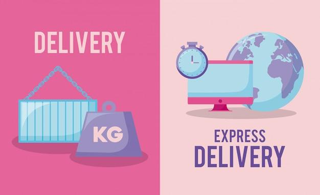 Service de livraison avec kilogramme