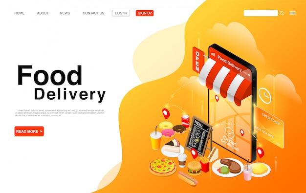 Service de livraison de nourriture en ligne.
