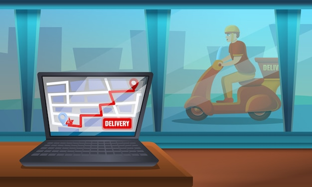 Service de livraison de nourriture sur le web