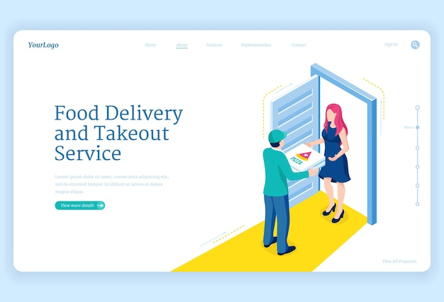Service de livraison et de plats à emporter